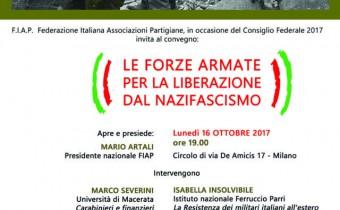 forze armate nella resistenza 16  ottobre 2017