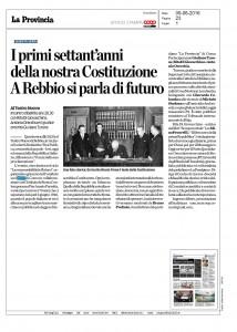 """Articolo de """"La Provincia"""" 9 giugno 2016"""